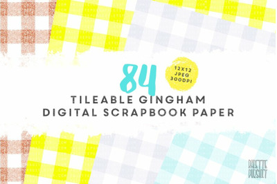 Gingham pattern digital paper, tileable seamless