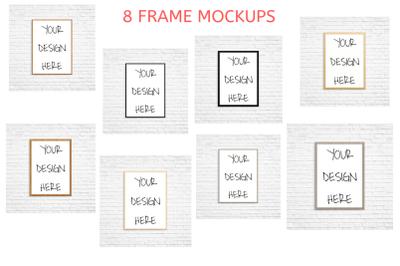 8 Wood Frame Mockups