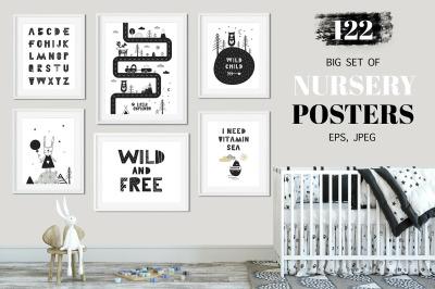 Nursery Posters - Big Set