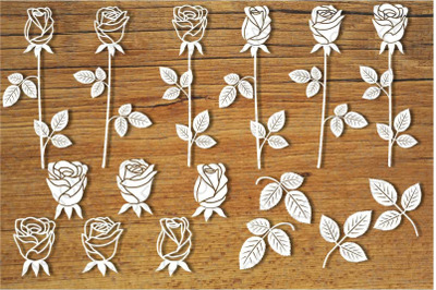Flowers, Roses, Rosebuds SVG files for Silhouette Cameo and Cricut.