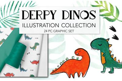 Cute Dinosaur Kids Drawing Clipart