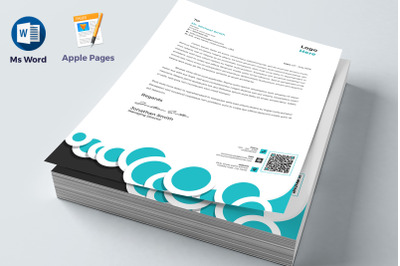 Letterhead Pad Apple Pages & Ms Word