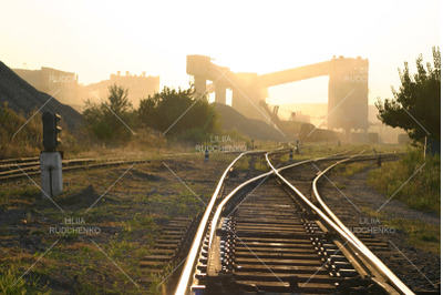 industry landscape with railroad .