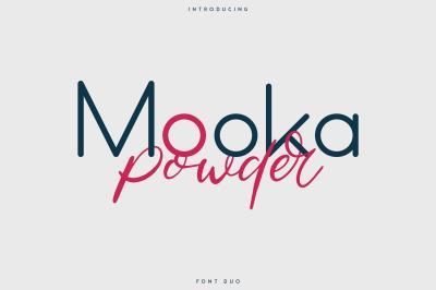 Mooka Powder - font duo