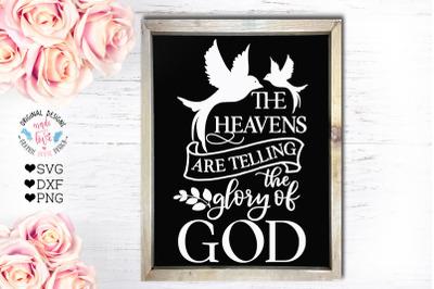 The Heavens are Telling the Glory of God - Faith Cut File