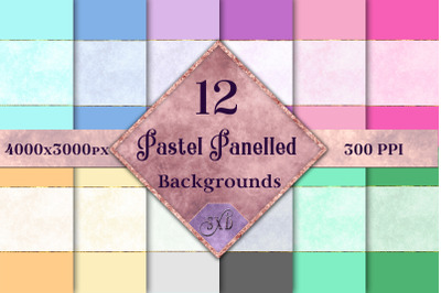 Pastel Panelled Backgrounds - 12 Image Set