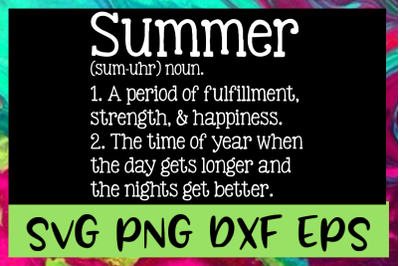 Summer Definition SVG PNG DXF & EPS Design Files
