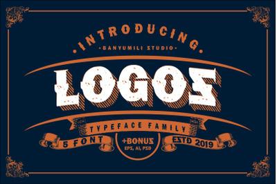 LOGOS | 5 Font Logo