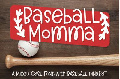 Baseball Momma - A Baseball Font Duo