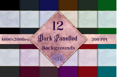 Dark Panelled Backgrounds - 12 Image Set