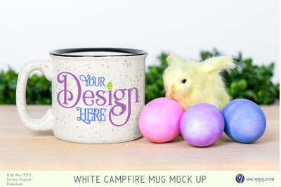 Campfire mug mock up for Easter