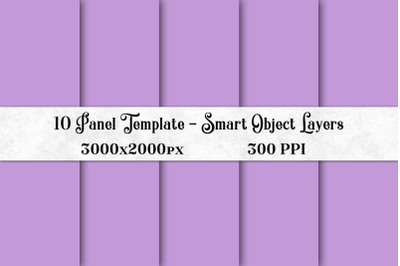 10 Panel Template with Smart Object Layers