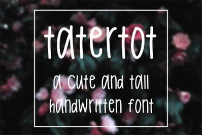 Tatertot Handwritten Font