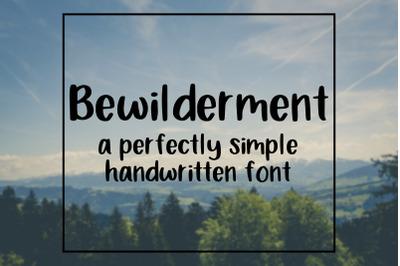 Bewilderment Handwritten Font