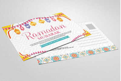 Ramadan Kareem - Postcard Template with Islamic