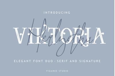 Victoria // Elegant Font Duo