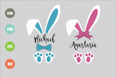 Easter Bunny Ears SVG