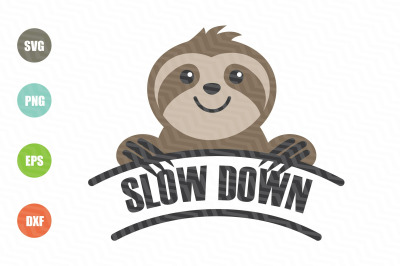 Sloth Slow Down SVG