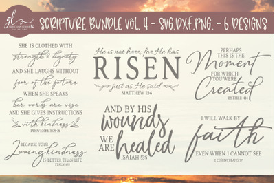 Scripture Bundle Vol. 4 - 6 Designs - SVG, DXF & PNG