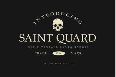 Saint Quard Serif Extra Logo