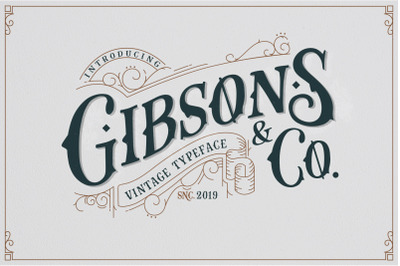 Gibsons Co Extra Ornament Vintage