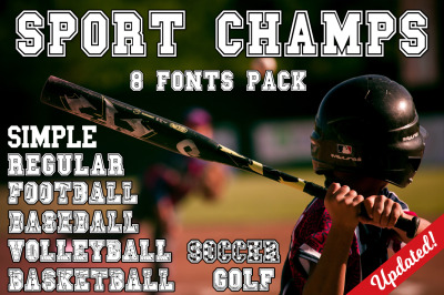 The Sport Champs Font Pack