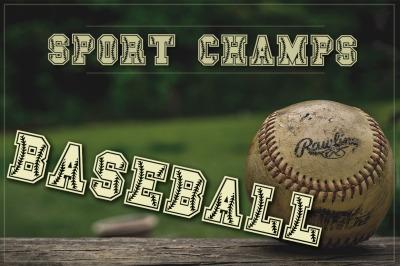 Baseball & Softball Font