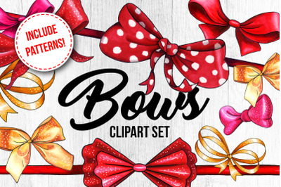 Bows and Ribbons Marker Clipart