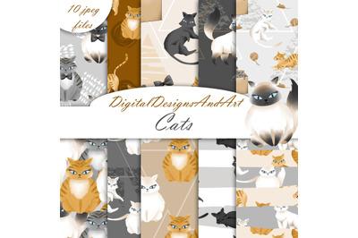 Cats digital paper