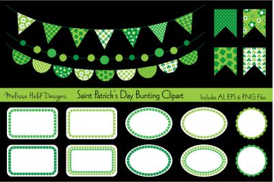 Saint Patrick's Day Bunting Clipart