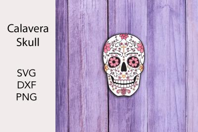 Calavbera - Skull - SVG DXF PNG
