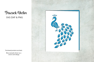 Peacock SVG DXF PNG Design For Crafters