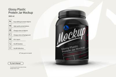 Glossy Jar With Baby Food Mockup Front View