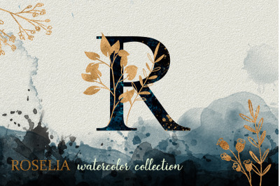 Blue Roselia Watercolor Collection