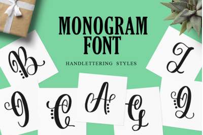 Monogram Handlettered for Crafters