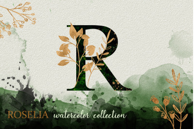 Green Roselia Watercolor Collection