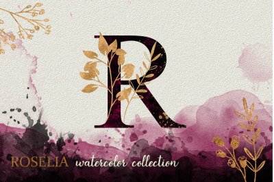 Pink Roselia Watercolor Collection