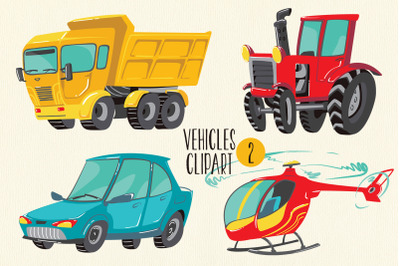 Car, Tractor, Truck, Helicopter, PNG