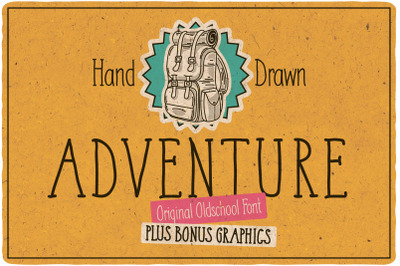 Adventure Typeface + bonus graphics