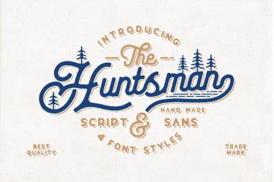 The Huntsman Script and Sans Vintage Typeface Ver.1