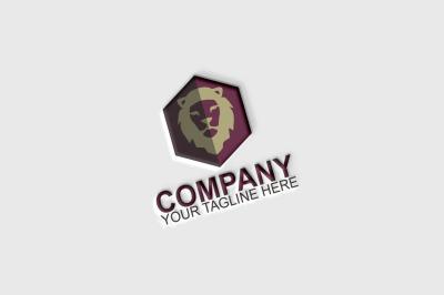 Lion Hexagon Logo