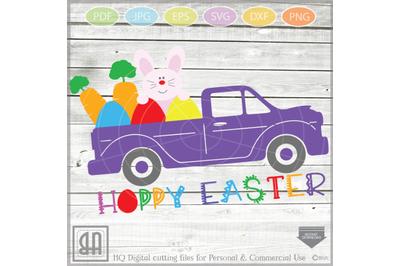 Easter Truck svg - Vintage Dump truck svg - Girls Easter