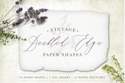 Deckled Edge Paper Shapes