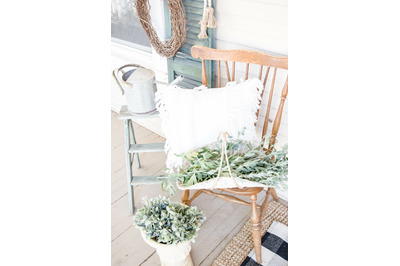 Farmhouse Front Porch Stock Photos