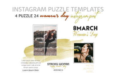 Women's Day Instagram Puzzle Templates