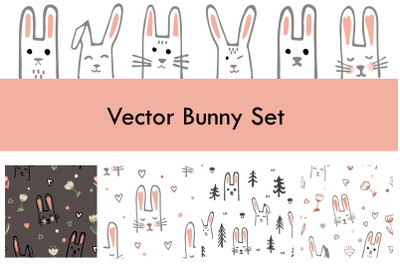 Vector Bunny Set