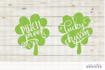 St Patricks Day Cut Files SVG - DXF - PNG - Lucky Charm - Pinch Proof