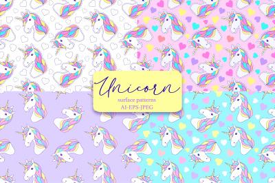 Unicorns.Surface patterns.