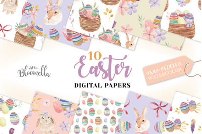 Easter Egg Seamless Patterns Spring
