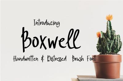 Boxwell Brush Font